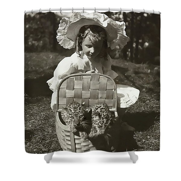 Child With Leopards 1907 Shower Curtain