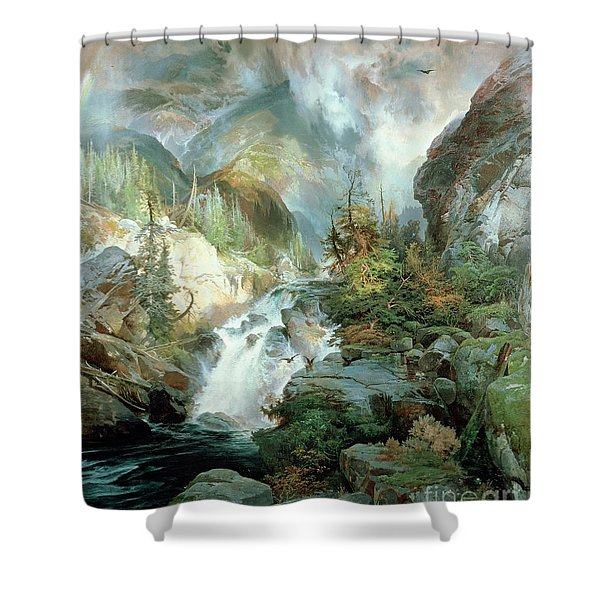 Children Of The Mountain Shower Curtain
