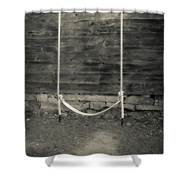 Child's Swing On An Old Farm Shower Curtain