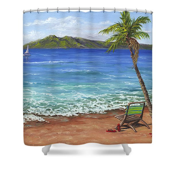 Chillaxing Maui Style Shower Curtain
