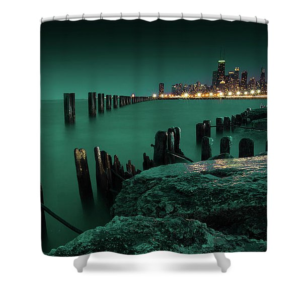 Chilly Chicago 2 Shower Curtain