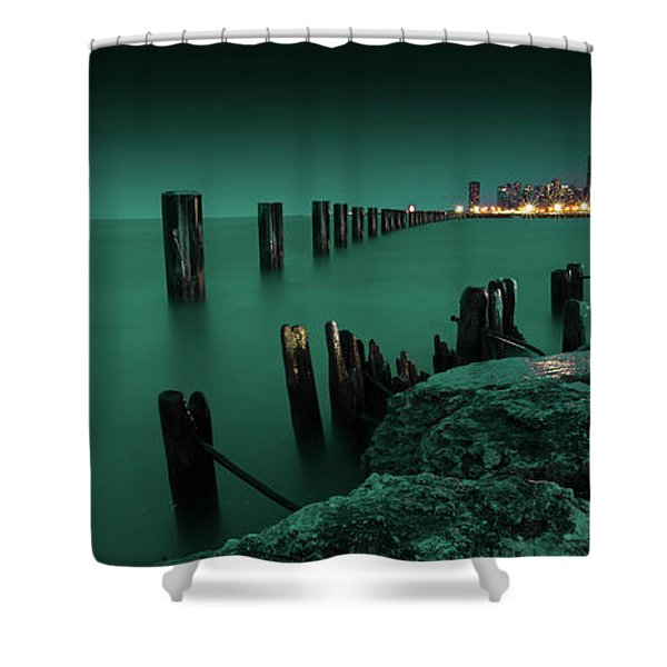 Chilly Chicago Shower Curtain