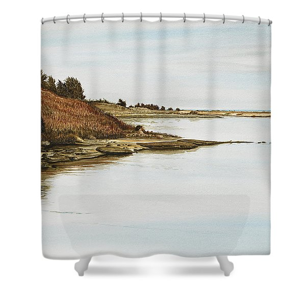 Chilmark Mv Stonewall Pond Shower Curtain
