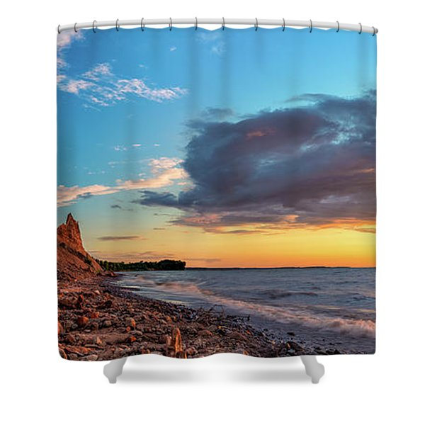 Chimney Bluffs Shower Curtain