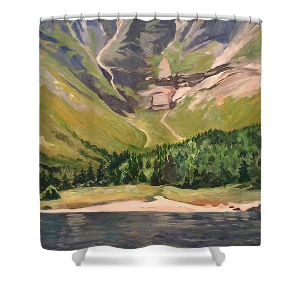 Chimney Pond At Katahdin Basin Shower Curtain