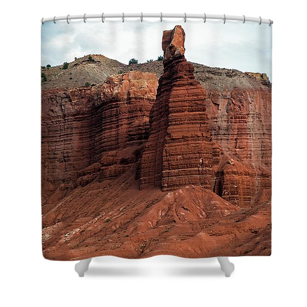 Chimney Rock In Capital Reef Shower Curtain