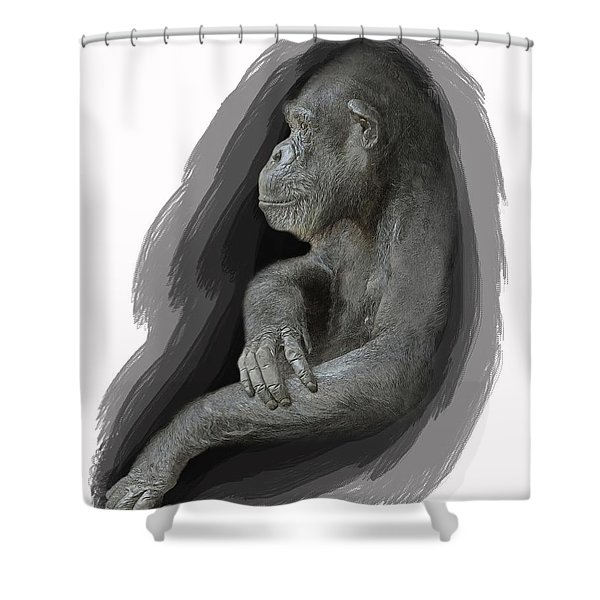 Primate Profile Shower Curtain