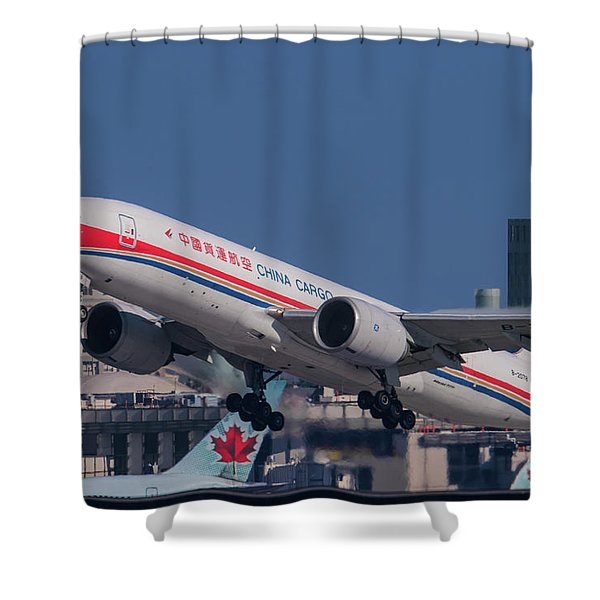 China Cargo Airlines Boeing 777f Shower Curtain