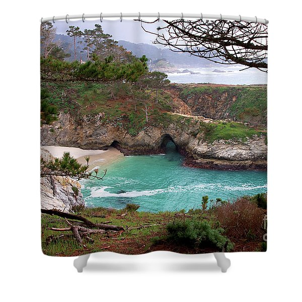 China Cove At Point Lobos Shower Curtain