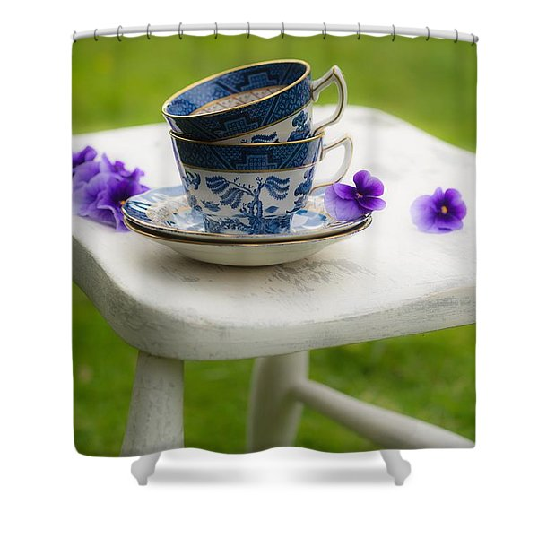 China Cups Shower Curtain