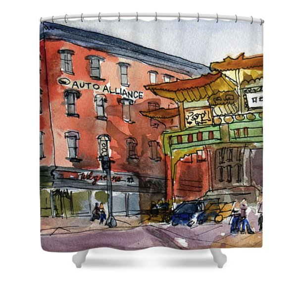 Chinatown In Dc Shower Curtain