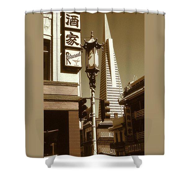 Chinatown San Francisco - Vintage Photo Art Shower Curtain