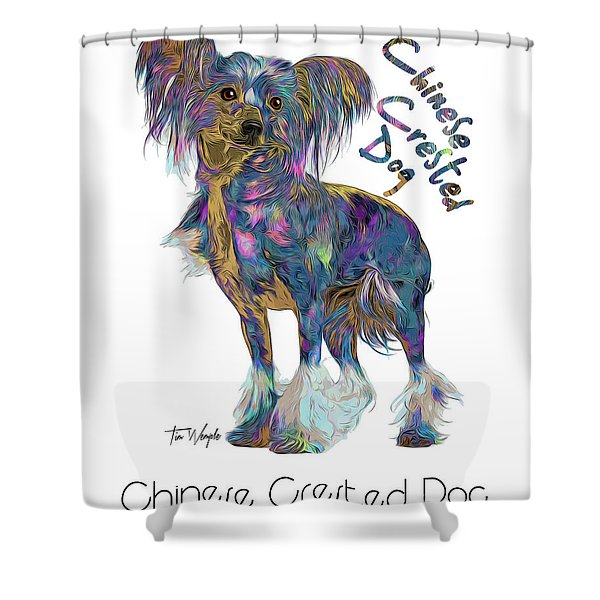 Chinese Crested Dog Pop Art Shower Curtain