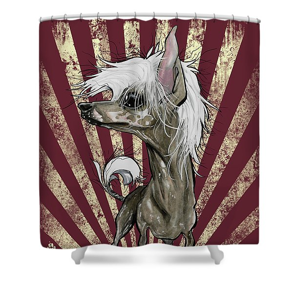 Chinese Crested Revolution Shower Curtain