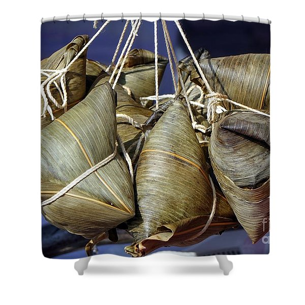 Chinese Sticky Rice Dumplings Shower Curtain
