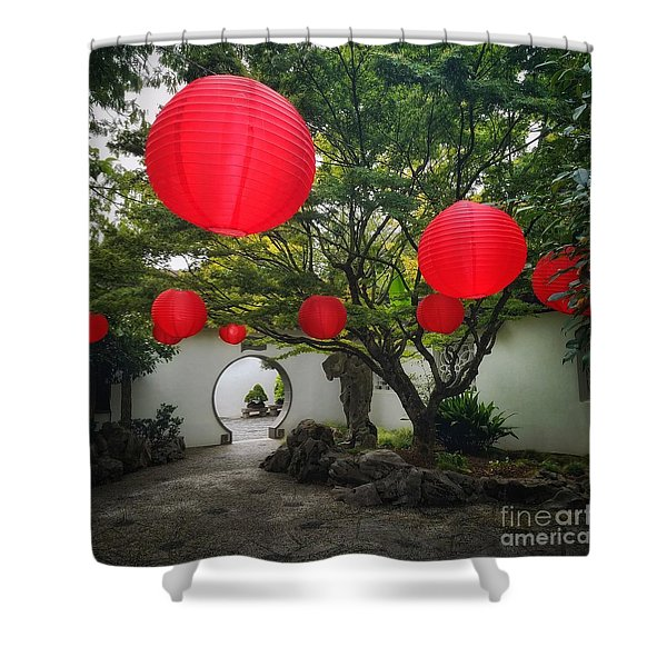 Chinese Tea Garden In Portland, Oregon Shower Curtain