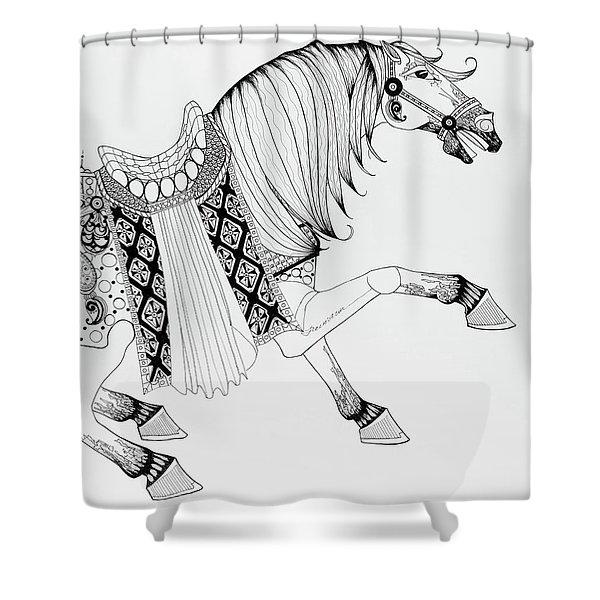 Chinese War Horse 2 Shower Curtain