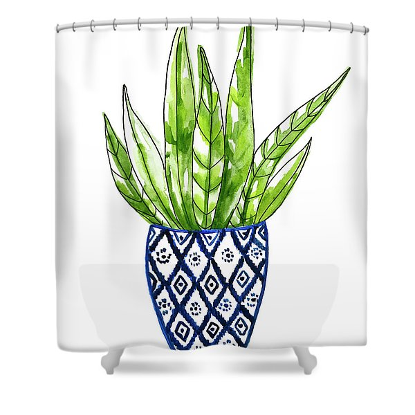 Chinoiserie Cactus No2 Shower Curtain