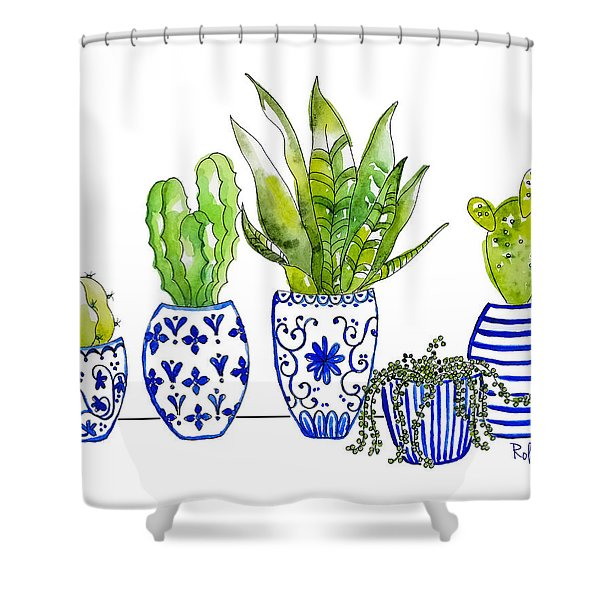 Chinoiserie Collected Shower Curtain