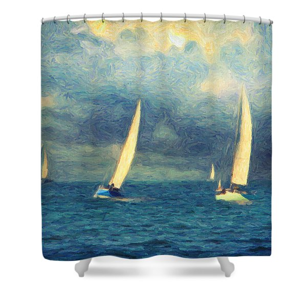 Chios Shower Curtain