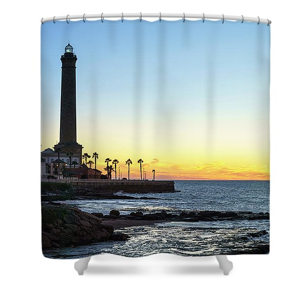 Chipiona Lighthouse Cadiz Spain Shower Curtain