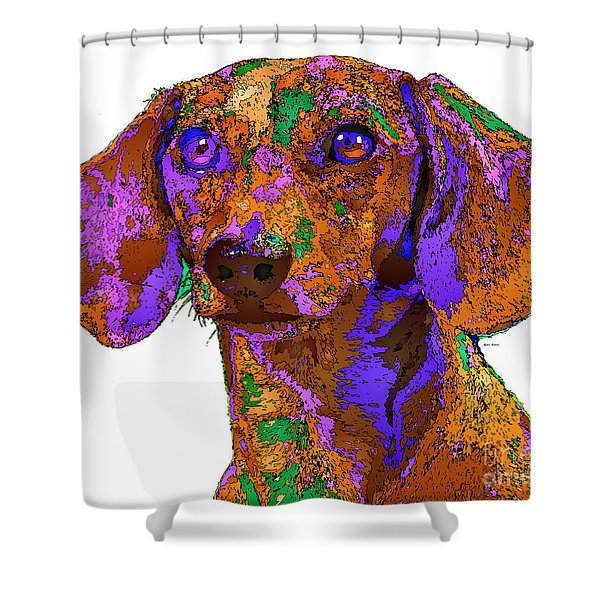 Chloe. Pet Series Shower Curtain