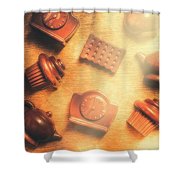 Chocolate Cafe Background Shower Curtain
