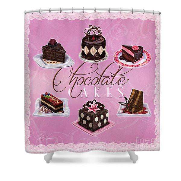 Chocolate Cakes Shower Curtain