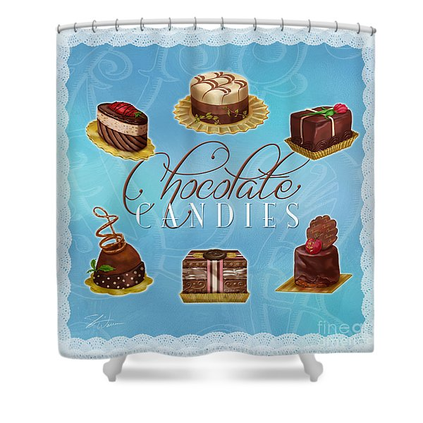 Chocolate Candies Shower Curtain