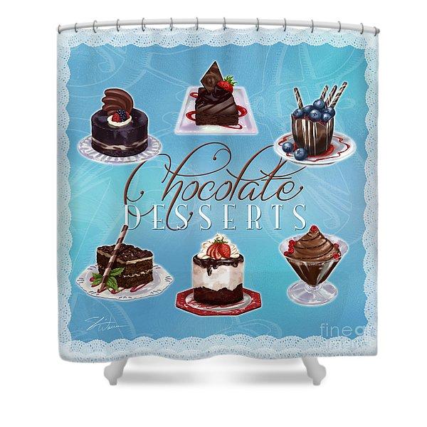 Chocolate Desserts Shower Curtain