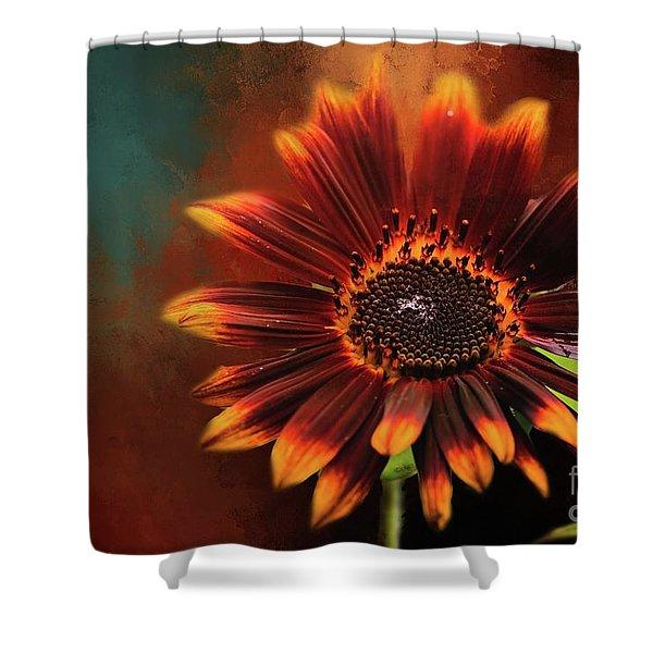 Chocolate Sunflower Shower Curtain