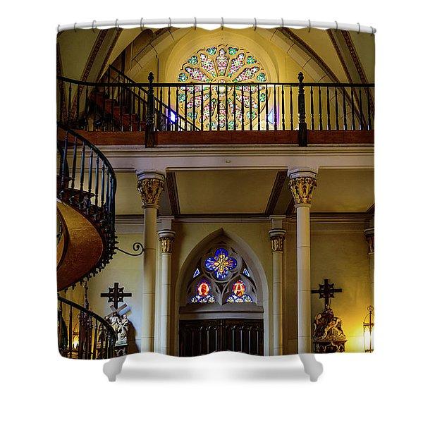 Choir Loft - Loretto Chapel - Santa Fe - New Mexico Shower Curtain