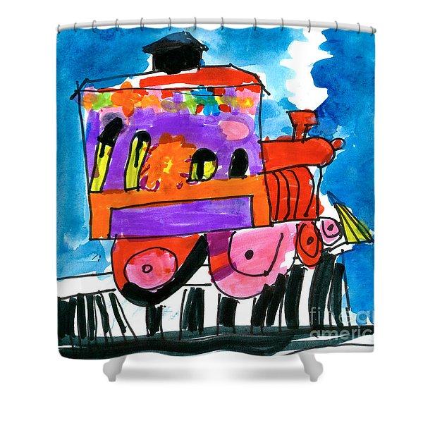 Choochoo Train Shower Curtain