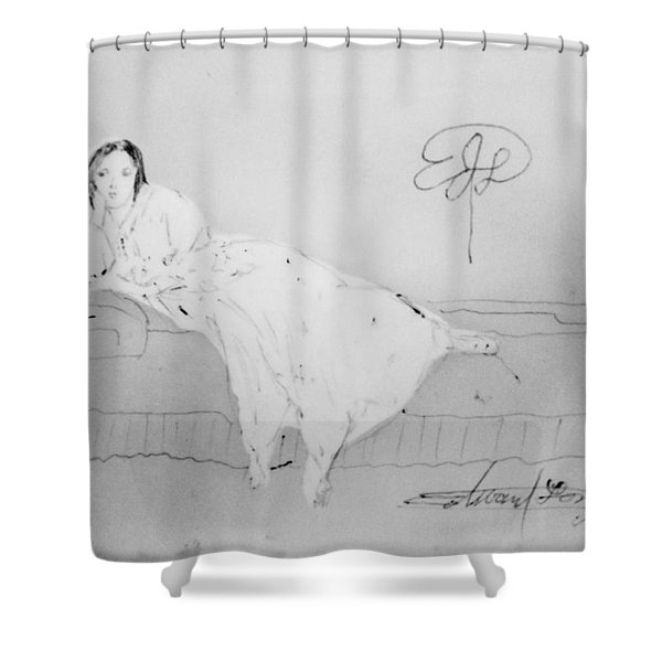 Chopin's Woman Shower Curtain