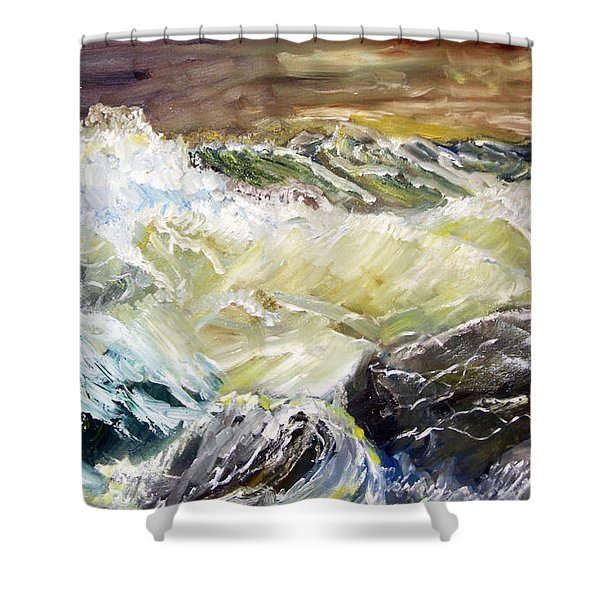 Choppy Waters Shower Curtain