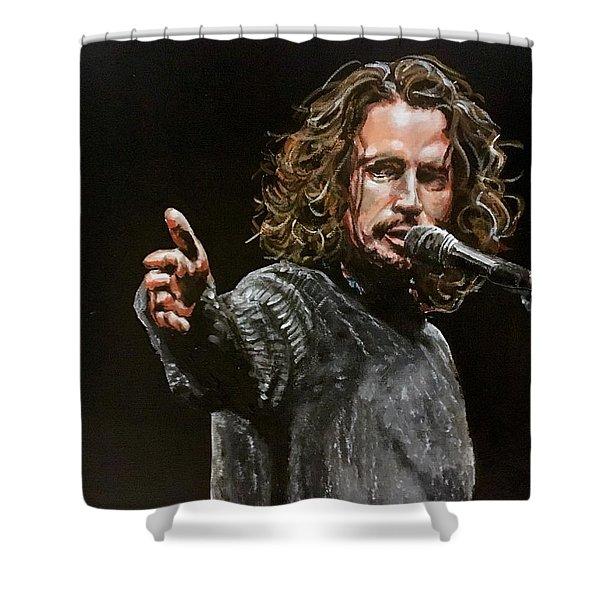 Chris Cornell Shower Curtain