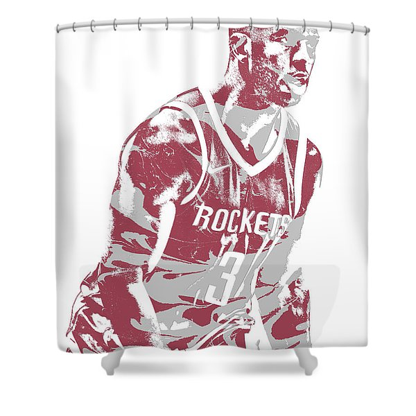 Chris Paul Houston Rockets Pixel Art 6 Shower Curtain