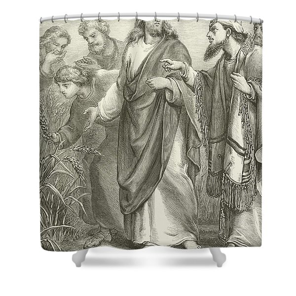 Christ And His Disciples In The Cornfields Shower Curtain