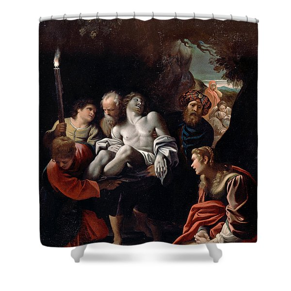 Christ Carried To The Tomb 2 Shower Curtain