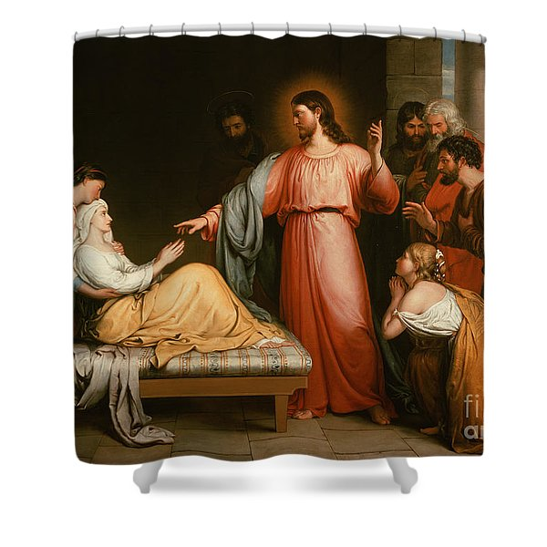 Christ Healing The Mother Of Simon Peter Shower Curtain