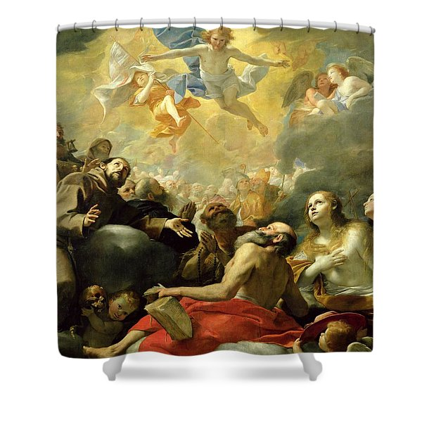 Christ In Glory With The Saints Shower Curtain