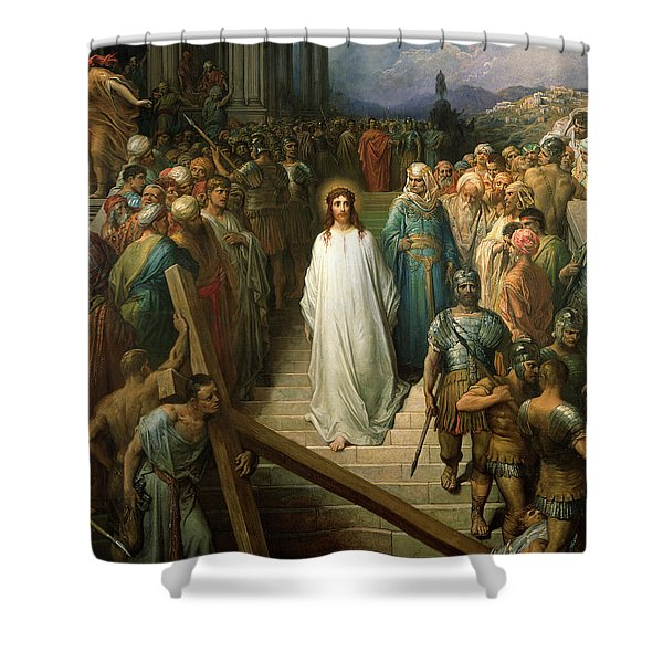 Christ Leaves His Trial Shower Curtain