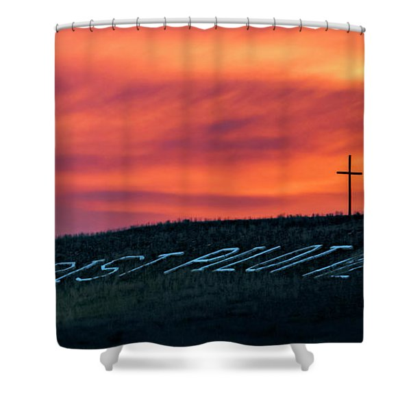 Christ Pilot Me Hill Shower Curtain