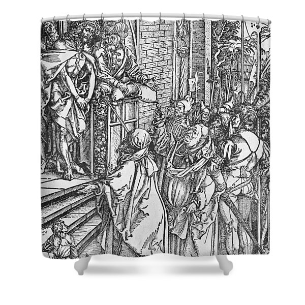 Christ Presented To The People Shower Curtain