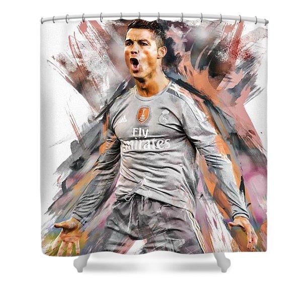 Christiano Ronaldo Shower Curtain