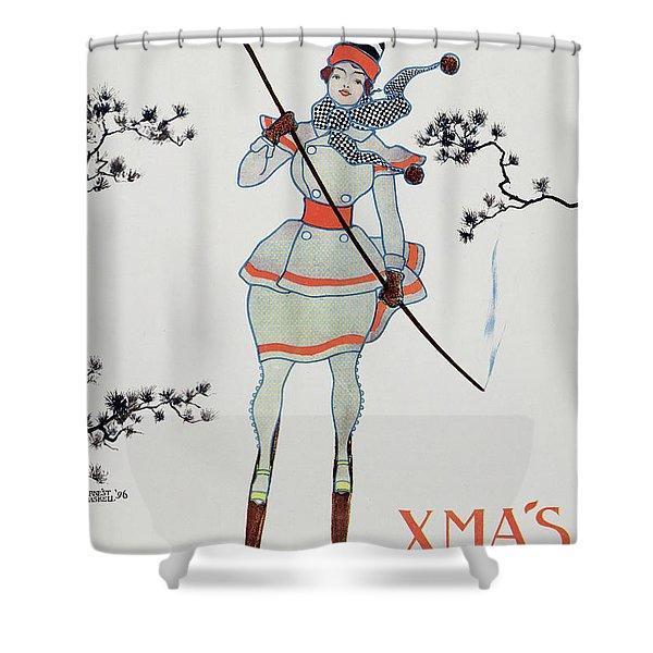Christmas 1896 Shower Curtain