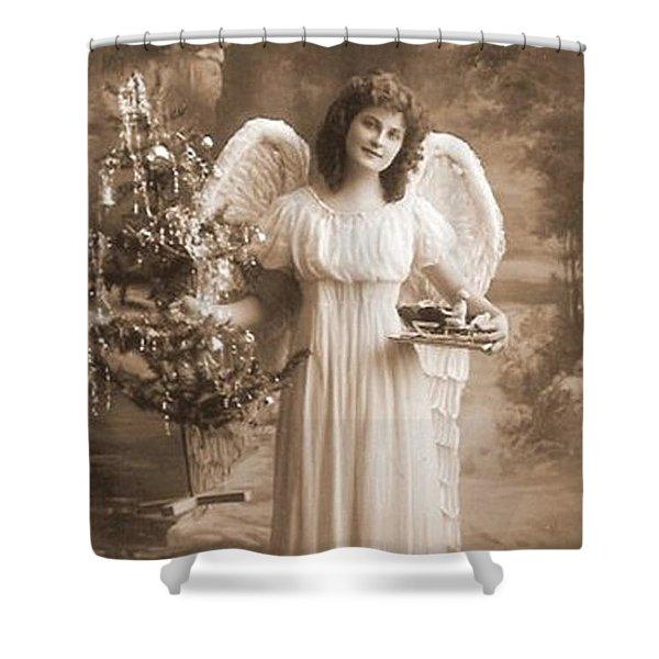Christmas Angel Shower Curtain