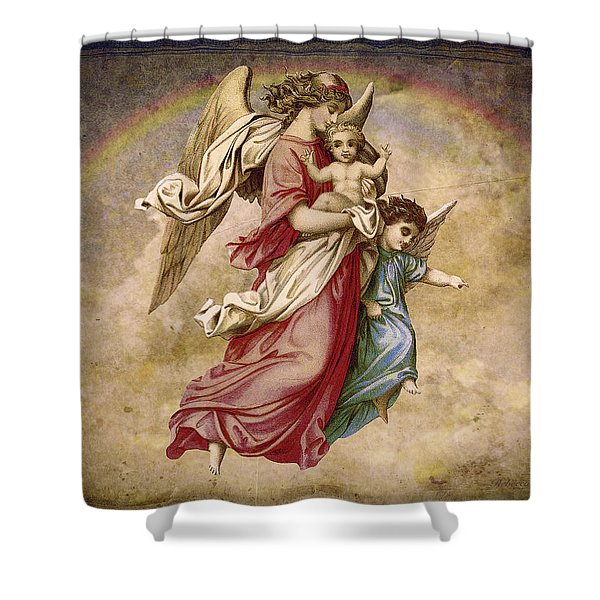 Christmas Angels And Baby Shower Curtain