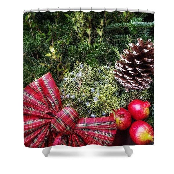 Christmas Arrangement Shower Curtain