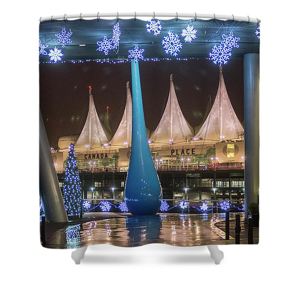 Christmas At Canada Place Shower Curtain